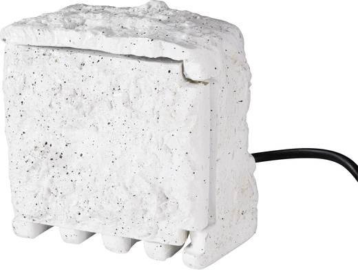 Gartensteckdose mit Zeitschaltuhr 2fach Stein-Grau Renkforce 1168583