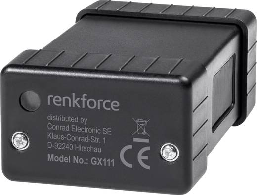 Renkforce GX-111 GSM-Alarmanlage mit GPS-Tracking Multifunktionstracker Schwarz