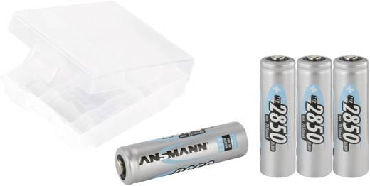 Mignon (AA)-Akku NiMH Ansmann AA 4er + Box 2850 mAh 1.2 V 1 Set