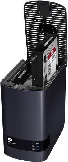 NAS-Server 6 TB Western Digital My Cloud EX2 persönlicher Cloud-Speicher (2x3TB) WDBVKW0060JCH-EESN bestückt mit WD RED,