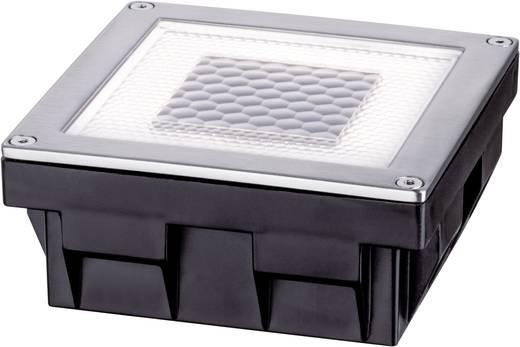 Solar-Einbauleuchte 0.24 W Warm-Weiß Paulmann Cube 93774 Edelstahl