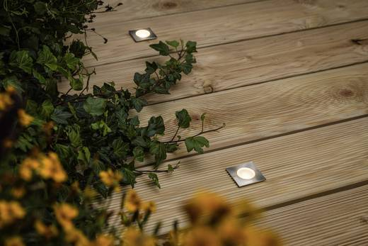 LED-Außeneinbauleuchte 4er Set 2.8 W Warm-Weiß Paulmann Special Line MiniPlus 93786 Silber