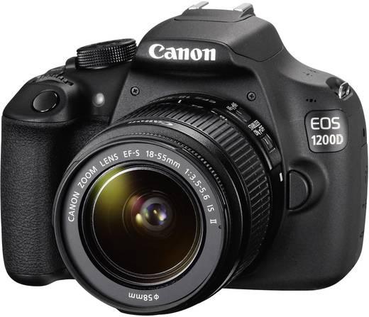 digitale spiegelreflexkamera canon eos 1200d set ef s 18 55 mm is ii schwarz kaufen. Black Bedroom Furniture Sets. Home Design Ideas