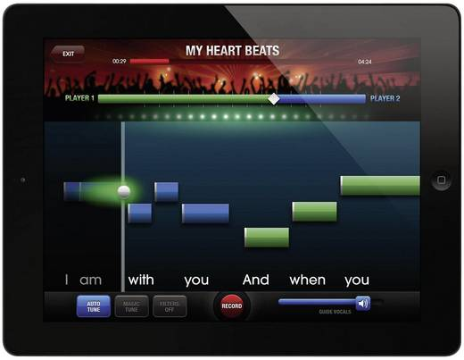 Philips AEA3000/00 Kabelloses Bluetooth®-Mikrofon für Apple iPad, The Voice: on Stage App