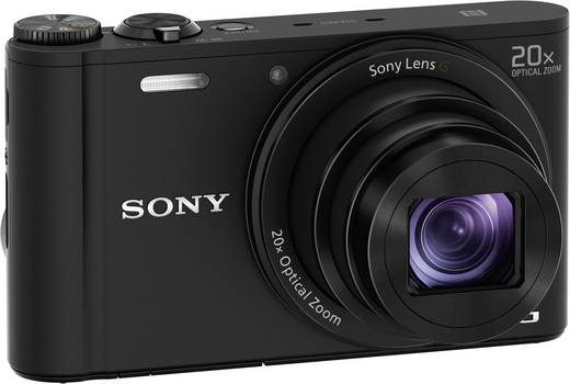Digitalkamera Sony Cyber-Shot DSC-WX350B 18.2 Mio. Pixel Opt. Zoom: 20 x Schwarz Full HD Video, WiFi
