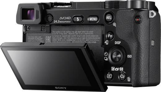 E-Mount Systemkamera Sony ILCE-6000YB inkl. SEL-P16-50 mm + SEL-55-210 mm inkl. Standard-Zoomobjektiv, inkl. Tele-Zoomob
