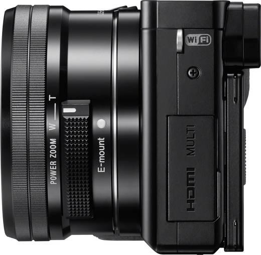 E-Mount Systemkamera Sony ILCE-6000LB inkl. SEL-P16-50 mm inkl. Standard-Zoomobjektiv 24.3 Mio. Pixel Schwarz Full HD Vi