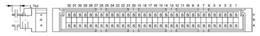Messerleiste 374544 Gesamtpolzahl 64 Anzahl Reihen 3 ERNI 1 St.