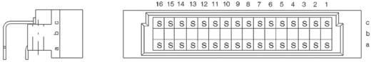 Messerleiste 384210 Gesamtpolzahl 32 Anzahl Reihen 3 ERNI 1 St.