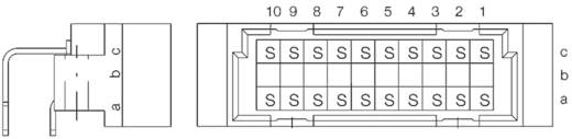 Messerleiste 384226 Gesamtpolzahl 20 Anzahl Reihen 3 ERNI 1 St.