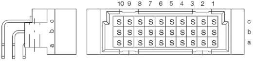 Messerleiste 254325 Gesamtpolzahl 30 Anzahl Reihen 3 ERNI 1 St.
