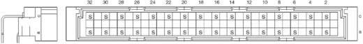 Messerleiste 354868 Gesamtpolzahl 32 Anzahl Reihen 3 ERNI 1 St.