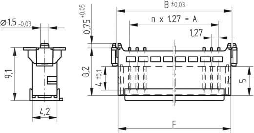 SMC-Messerleiste 63210 Gesamtpolzahl 50 Anzahl Reihen 2 ERNI 1 St.