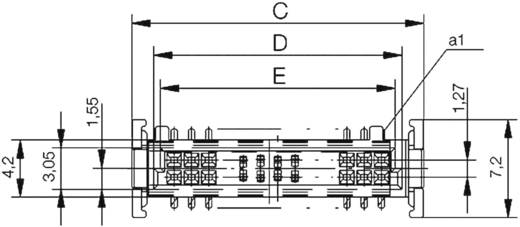 SMC-Messerleiste 154717 Gesamtpolzahl 12 Anzahl Reihen 2 ERNI 1 St.