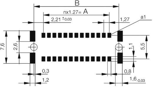 SMC-Messerleiste 154720 Gesamtpolzahl 68 Anzahl Reihen 2 ERNI 1 St.