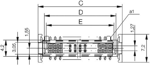 SMC-Messerleiste 154721 Gesamtpolzahl 80 Anzahl Reihen 2 ERNI 1 St.