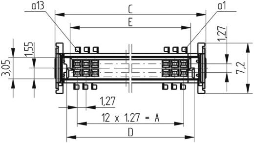 SMC-Messerleiste 154807 Gesamtpolzahl 50 Anzahl Reihen 2 ERNI 1 St.