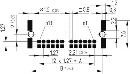 SMC-Messerleiste 154741 Gesamtpolzahl 26 Anzahl Reihen 2 ERNI 1 St.