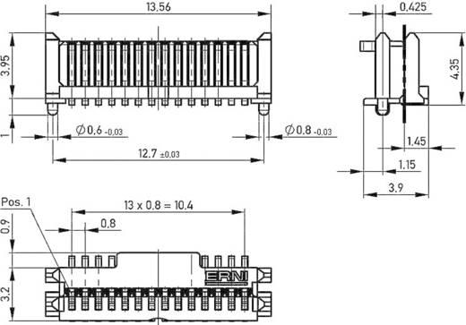 Messerleiste 284257 Gesamtpolzahl 14 Anzahl Reihen 1 ERNI 1 St.