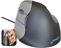 Image of Evoluent Vertical Mouse 4 VM4L Linkshänder USB-Maus Optisch Ergonomisch Grau, Silber