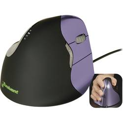 Optická USB myš Evoluent Vertical Mouse 4 VM4S VM4S, ergonomická, čierna, purpurová
