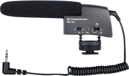 Kamera-Mikrofon Sennheiser MKE 400 Übertragungsart:Direkt inkl. Kabel, inkl. Windschutz, Blitzschuh-Montage
