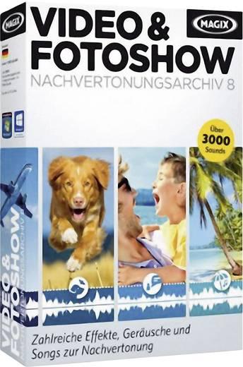 Magix Video und Fotoshow Nachvertonungsarchiv 8 Vollversion, 1 Lizenz Videobearbeitung