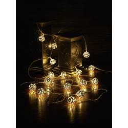 LED svetelná reťaz s motívom Polarlite guľa, vnútorné 1170821, na batérie, N/A, 4.5 m