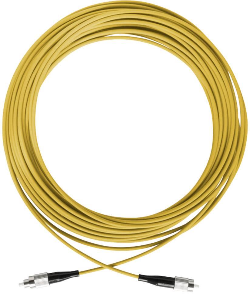 Axing Glasfaser LWL Anschlusskabel [1x FCPC Stecker 1x FCPC Stecker] 9125 µ Singlemode OS1 500.00 m