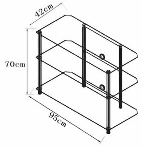vcm tv m bel posio big xxl lcd rack led tisch alu klarglas kaufen. Black Bedroom Furniture Sets. Home Design Ideas