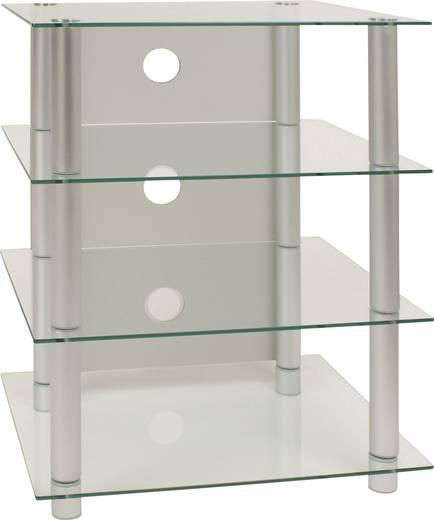 vcm hifi m bel blados rack regal tisch alu klarglas. Black Bedroom Furniture Sets. Home Design Ideas