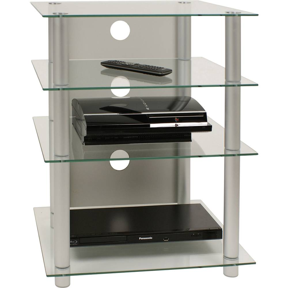 Hifi rack bilus vcm morgenthaler aluminium glass transparent im conrad online shop 1170918 - Wandregal hifi ...
