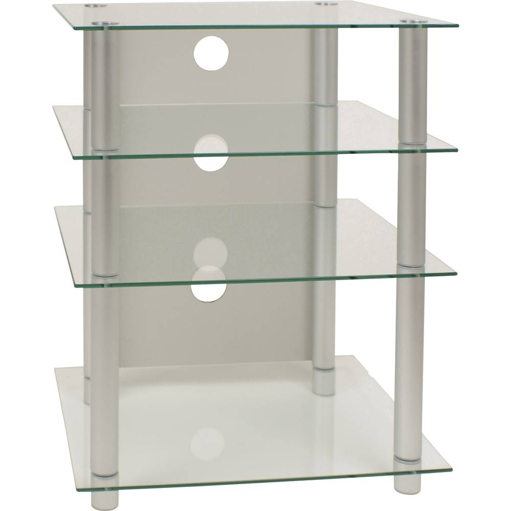 hifi rack bilus vcm morgenthaler aluminium glass transparent im conrad online shop 1170918. Black Bedroom Furniture Sets. Home Design Ideas
