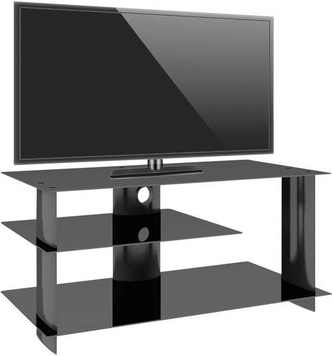 vcm tv m bel subuso lcd rack led tisch alu schwarz kaufen. Black Bedroom Furniture Sets. Home Design Ideas