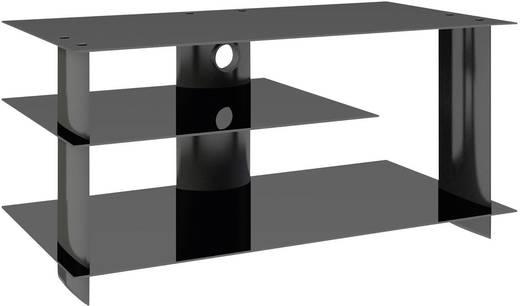 vcm tv m bel subuso lcd rack led tisch alu schwarz kaufen. Black Bedroom Furniture Sets. Home Design Ideas