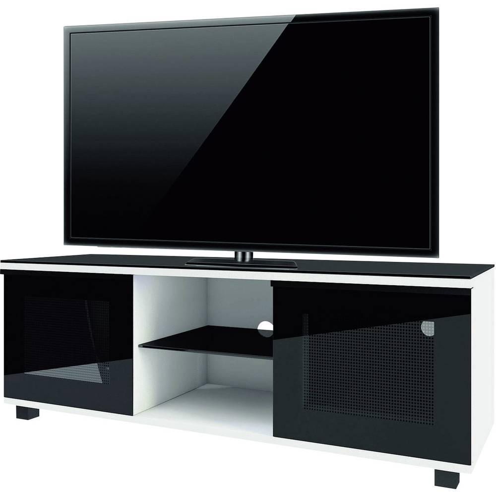 tv board luxala vcm morgenthaler wood glass white im conrad online shop 1170946. Black Bedroom Furniture Sets. Home Design Ideas