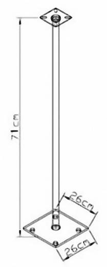 Lautsprecher-Ständer Starr Boden-/Deckenabstand (max.): 71 cm VCM Morgenthaler Sulivo mini Silber, Glasklar 1 Paar