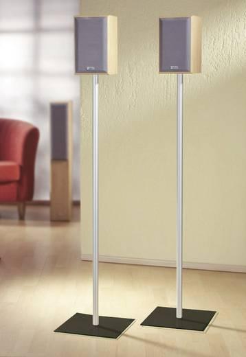 Lautsprecher-Ständer Starr Boden-/Deckenabstand (max.): 107 cm VCM Morgenthaler Sulivo maxi Silber, Glas Schwarz 1 Paar