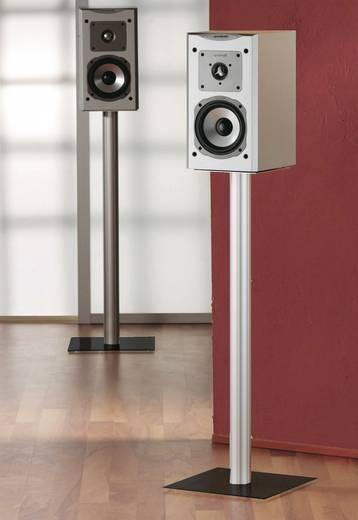 Lautsprecher-Ständer Starr Boden-/Deckenabstand (max.): 51 cm VCM Morgenthaler Boxero Mini Silber, Glas Schwarz 1 Paar
