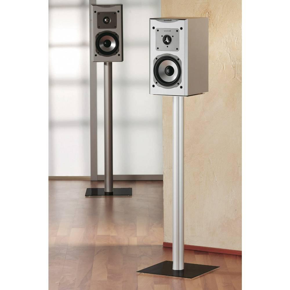 pied pour haut parleur vcm morgenthaler 15245 rigide argent verre noir 1 paire sur le site. Black Bedroom Furniture Sets. Home Design Ideas