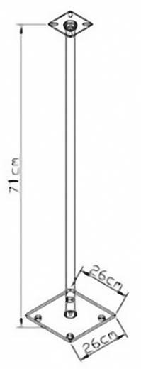 Lautsprecher-Ständer Starr Boden-/Deckenabstand (max.): 71 cm VCM Morgenthaler Boxero Maxi Silber, Glas Schwarz 1 Paar