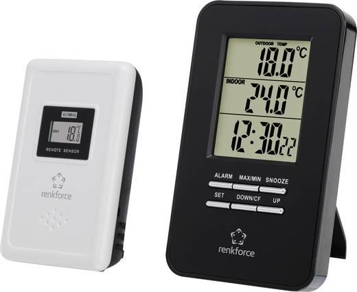 Funk-Thermometer E0101TR Schwarz