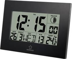 Digitální nástěnné DCF hodiny Renkforce E0311R, 28 x 230 x 163 mm, černá