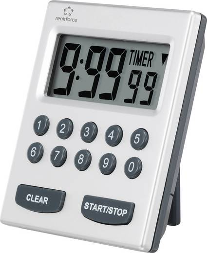 Timer Renkforce 9902 Silber digital