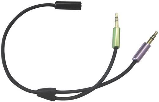 SpeaKa SuperSoft Headset Klinkenadapter 4pol. [2x Klinkenstecker 3.5 mm - 1x Klinkenbuchse 3.5 mm] Schwarz