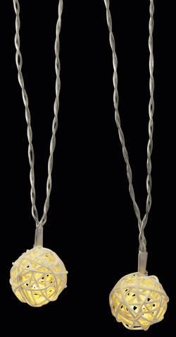 Vnitřní vánoční řetěz Polarlite Ratan, 16 LED, teplá bílá, 3 m