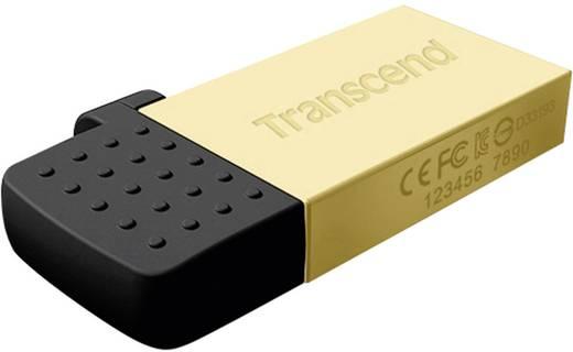 USB-Zusatzspeicher Smartphone/Tablet Transcend JetFlash® 380G Gold 32 GB USB 2.0, Micro USB 2.0
