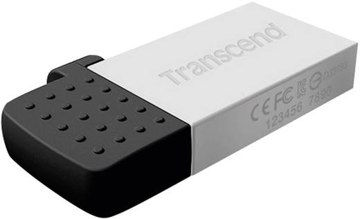 USB-Zusatzspeicher Smartphone/Tablet Transcend JetFlash® 380S Silber 32 GB USB 2.0, Micro USB 2.0