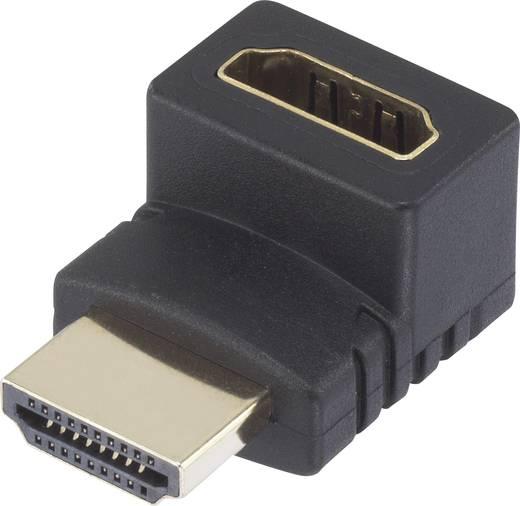 HDMI Adapter [1x HDMI-Stecker - 1x HDMI-Buchse] 270° nach oben gewinkelt vergoldete Steckkontakte SpeaKa Professional