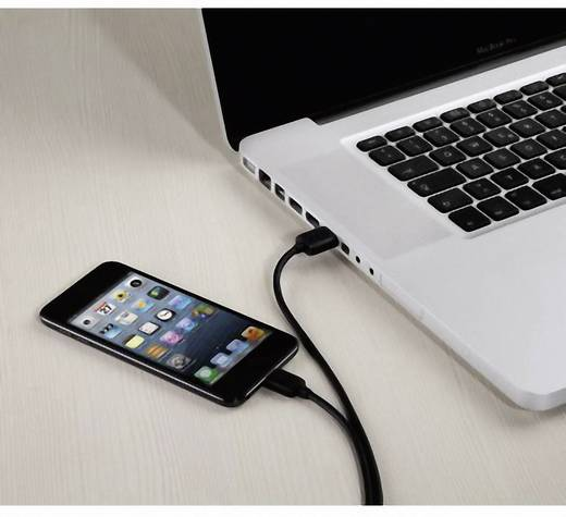 iPad/iPhone/iPod Datenkabel/Ladekabel [1x USB 2.0 Stecker A - 1x Apple Dock-Stecker Lightning] 1.50 m Schwarz Hama